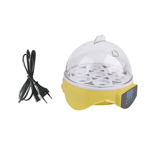 Incubadora de los huevos de Digitaces de 7 huevos para los patos de las aves Huevo de los huevos de gallina Hatcher 110V 30W Enchufe de la UE con el sistema de control de la temperatura