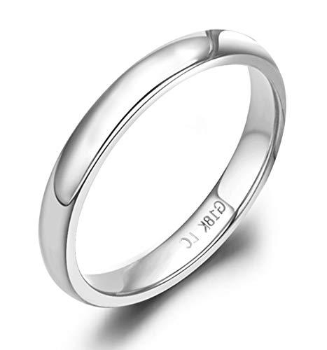 Socoz 18K White Gold Ring Diamond Engagement,Poliren Silver Wedding Rings Yellow Gold for Women
