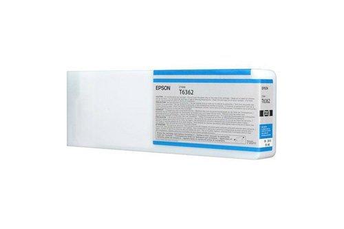 Epson C13T636200 / T6362 - Cartucho de tinta para impresora Stylus Pro 7890 SpectroProofer Premium, 700 ml, color cian