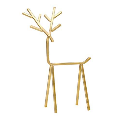 IKAAR Organizador de joyas con forma de ciervo para collares, pulseras, pendientes y anillos, color dorado