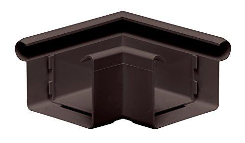 INEFA Rinnenwinkel 90°, kastenförmig, Wulst außen Dunkelbraun NW 68 - Kunststoff