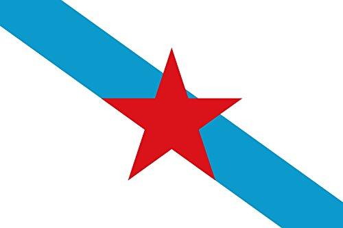 magFlags Bandera Large Galega nacionalista | Nacionalista de esquerda da Galícia | Bandera Paisaje | 1.35m² | 90x150cm
