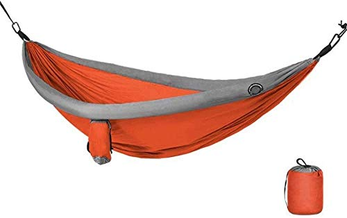 Hamaca para acampada, hamaca, tienda de campaña doble, ultraligera, para viajes, camping, senderismo, jardín, portátil, transpirable, capacidad de carga de hasta 200 kg Naranja: 240 x 173 cm.