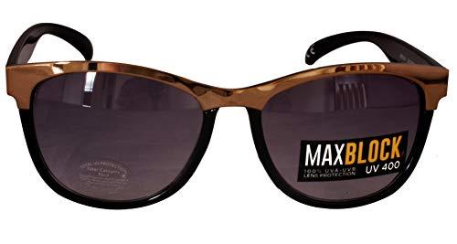 Foster Grant FG36 Gafas de sol de estilo para mujer Black & Gold Marco de plástico y brazos Black Gradient Lentes CAT 2