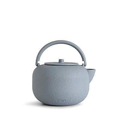 Viva Scandinavia Théière Japonaise en Fonte 0,8 l avec passoire en Acier Inoxydable. Intérieur émaillé, adapté à Tous Les Types de thé.