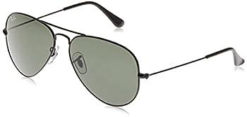 Ray-Ban RB3025 Classic Aviator Sunglasses Black/Green 58 mm