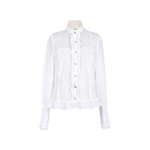 Himifashion - Camisa de manga larga para mujer, diseño de farol de...
