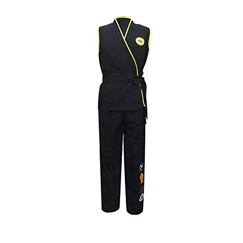 Karate Kid Cobra Kai Costume Gi Costume No Mercy Yellow Fist Costume Halloween Cosplay Outfits S
