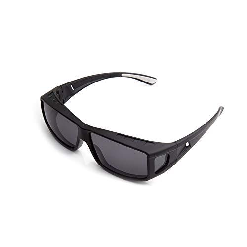 ROAR Black Fit Over Glasses, Wear Over Glasses for Reading and Prescription Glasse, Sunglasses with Polarized Lenses for Men and Women, TAC Lenses, Anti-Glare Sunglasses, UV400 Protection.