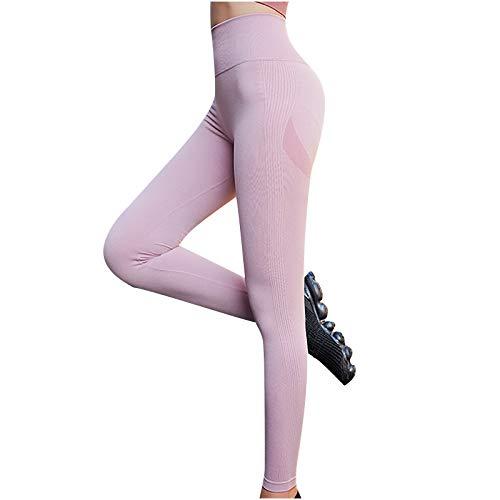 riou Leggings Mujer Deporte Cintura Alta Moda señoras Mallas Pantalones Deportivos Elásticos Pantalones de Yoga Elevación de Cadera Informal