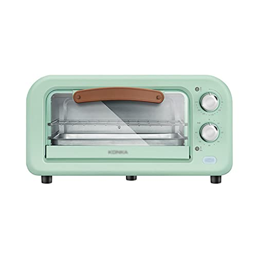 cakunmik Horno eléctrico 12L, Mini Horno de tostadora Retro multifunción, Control de Temperatura Ajustable, 800 vatios y Temporizador de 60 Minutos