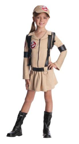 Rubies Officiel de Ghostbusters Fille avec Robe, Sac à Dos pour Enfant – Taille L