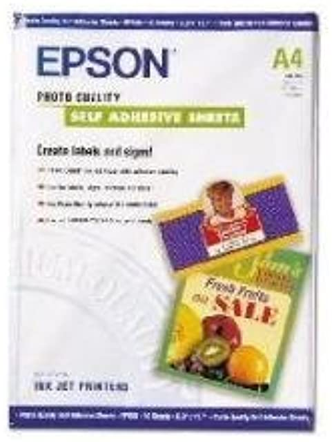 Epson C13S041106 - Papel inkjet mate y autoadhesivo (A4 167 g/m² 10 hojas)