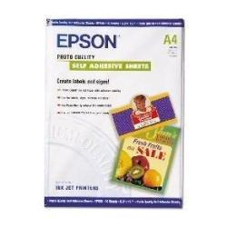 Epson C13S041106 Carta Auto-Adesiva A4, Confezione da 10 Pezzi