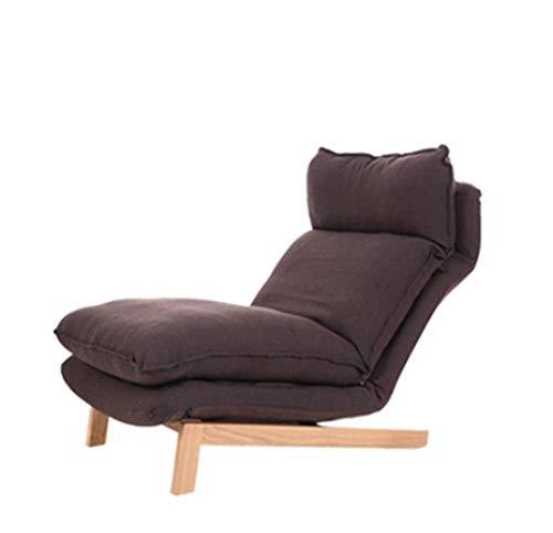 Tragbares Sofa Sofa Freizeitsitz Einfach Zusammenklappbar Lazy Couch Schlafzimmer Wohnzimmer Freizeit Bequeme Liege Kleines Sofa 74 × 65 cm (Farbe: Braun, Größe: A)