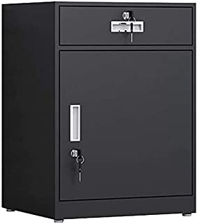 Classeurs Simple File Cabinet Bureau de Stockage Cabinet Made in Lock de prévention des incendies avec 1 tiroir et 1 Porte...