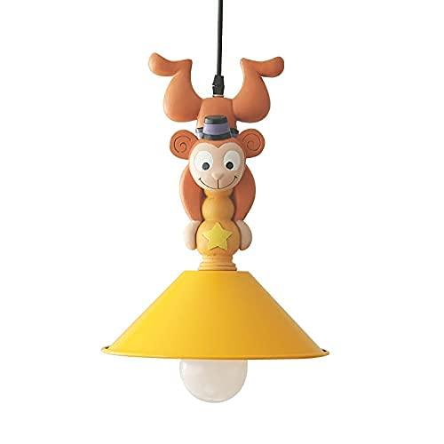 Mono captura linterna colgando araña para niños pequeños niños americano retro aldea lámpara de techo lámpara de techo manual resina animal figurillas simios estatua colgante luz para niño tarde dormi