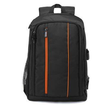 BouBou Zaino per fotocamera digitale impermeabile antiurto per borsa da 16 pollici in nylon impermeabile da 16 pollici per Nikon - arancione