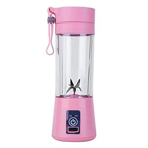 LQG Tragbarer Mixer für Smoothie- und Protein-Shakes, wiederaufladbarer kabelloser tragbarer 6-Klingen-Obstmischer mit 380-ml-Flasche für Sportreisen im Home Office im Freien,Rosa,1300ml