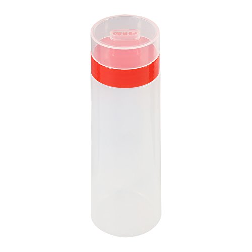 Fdit 4-Hole Sauce Bottle Squeeze Type Condiment Dispenser Safe Resin for Ketchup Jam Mayonnaise Olive Oil Vinegar Yellow Red(Red)