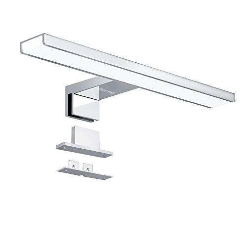 LED Spiegelleuchte, Dalmo DBML01MG Spiegellampe Badleuchte Schminklicht Badezimmer Schrankleuchte Aufbauleuchte Schrank-Beleuchtung Klemmleuchte neutral-weiß - 230 V - 650LM - IP44-30 cm