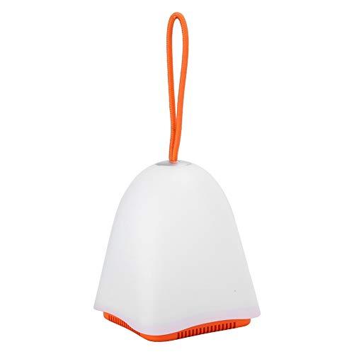 Nunafey Altavoz Inteligente con luz Nocturna LED, reproducción de Tarjeta de Memoria Compatible Altavoz Inteligente con luz Nocturna, lámpara de Noche de 3 Modos Versión Bluetooth 5.0(Orange)