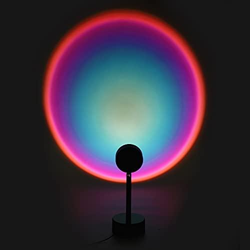 BLOOMWIN Sunset Lámpara de proyección LED de luz nocturna, proyector de 180 grados de rotación de escritorio, lámpara de pie...
