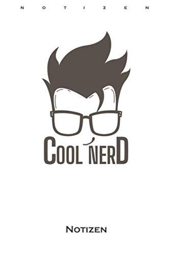 Cooler Nerd mit Brille und schöner Frisur Notizbuch: Liniertes Notizbuch für alle Nerds, Chippies und Computerfreaks