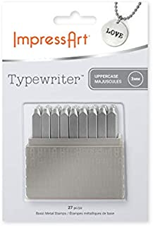ImpressArt Typewriter Font Metal Letter Stamps, 3mm Uppercase Steel Alphabet Punch Set