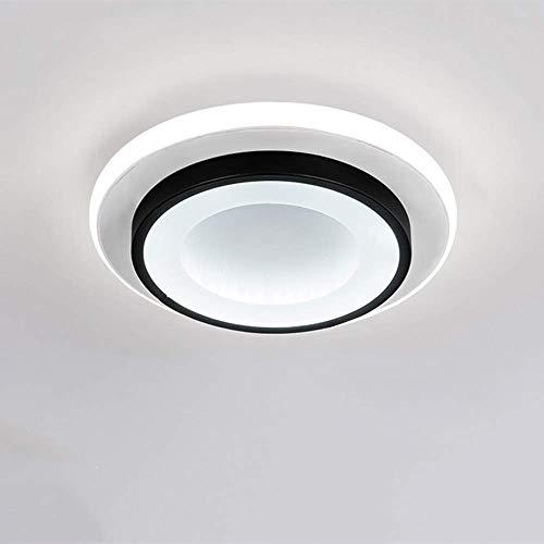 Goeco LED Lámparas de Techo, 20W Lamparas dormitorio acrílica Forma redonda para Pasillos, Sala de Estar, Dormitorio, diámetro 24cm, 3000K-6500K (3 temperaturas de Color)