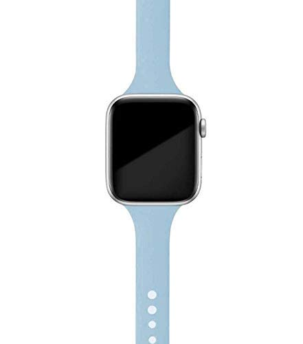 Correa fina para reloj Apple Watch de 40 mm, 4 mm, 38 mm, 42 mm, correa de silicona suave deportiva para correa iWatch Series 6 SE 5 4 3 2 1