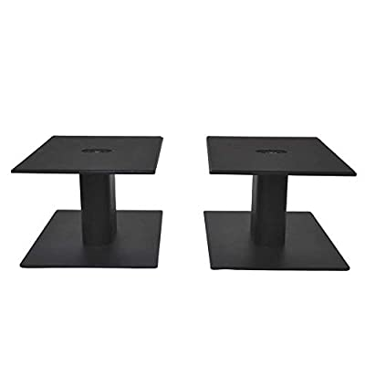 Fisual Dynami Matte Black Desktop Speaker Stands (Pair) (Large) by Fisual