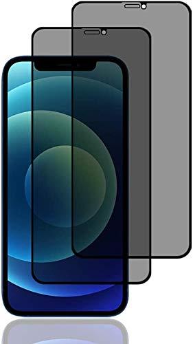 AVANA Sichtschutz Panzerglas für iPhone 12 mini Schutzfolie [2 Stück] Anti-Spy 9H Härte Displayschutzfolie Blasenfrei Privacy Panzerglasfolie Display Folie Anti-Kratzer Matt