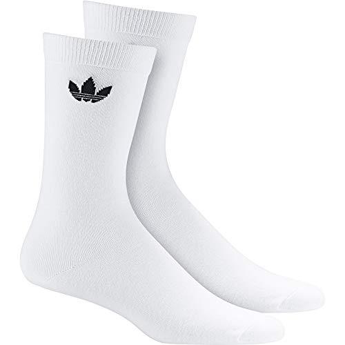 adidas Thin Tref Crew Calcetines, Unisex Adulto, Blanco/Negro, 39/42