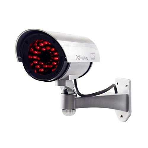2X professionelle Überwachungskameras Dummy Outdoor Kameras Dummy Kamera Attrappe mit Objektiv und Blinkled Videoüberwachung Warensicherung