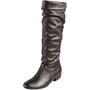 Women's Boots, Xinantime Ladies High Tube Flat Heels Riding Boots Knee High Shoes (UK 8, Black)