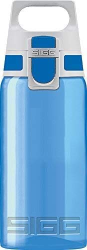 SIGG VIVA ONE Blue Kinder Trinkflasche (0.5 L), schadstofffreie Kinderflasche mit auslaufsicherem Deckel, einhändig bedienbare Sporttrinkflasche