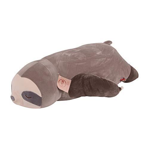 UNUS Seitenschläferkissen Stillkissen Lagerungskissen Faultier Kissen für Kinder Dekoration extrem weich 75 cm Grau