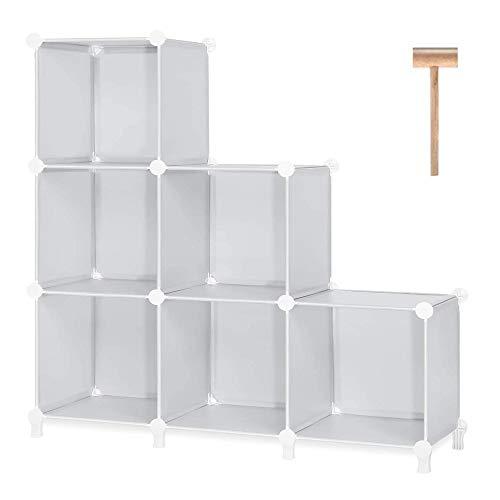 GROSSē Organizador de armario plegable Cubos de almacenamiento para ropa, juguetes para niños, baño organizador de plástico estantes debajo de las escaleras zapatero solución de ahorro de espacio