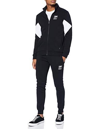 PUMA Herren Sweat Suit Trainingsanzug, Schwarz, XL