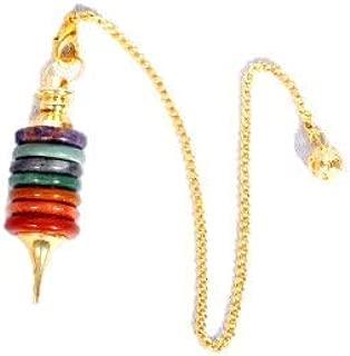 Jet Chakra Donut Stone Pendulum Healing Dowsing Chakra Balancing Reiki Peace Gift w/Pouch New Age Esoteric Healing Divination