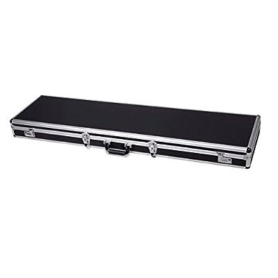 "Tactical 53"" Long Aluminum Chrome Locking Rifle Gun Case Shotgun Hard Carry Storage Case w/ 4 locks (2 combination and 2 key locks)"