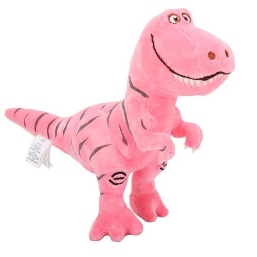Zooawa Pink Dinosaur Stuffed Animal Toys  Cute Soft Plush T-Rex Tyrannosaurus Dinosaur Stuffed Animal Figure Bed Time Toys for Girl Boy Kids Birthday Party  Pink