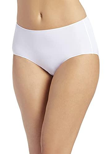 Jockey Women's Underwear No Panty Line Promise Tactel Hip Brief, White, 7