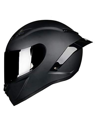 LJPHFF Casco Integral De Fibra De Carbono para Motocicleta Casco Profesional De Carreras Rainbow Visor Motocross Off Road Touring,Mate 10,L