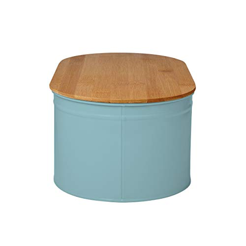 Lumaland Cuisine Bread Bin with Bamboo Lid - Mint
