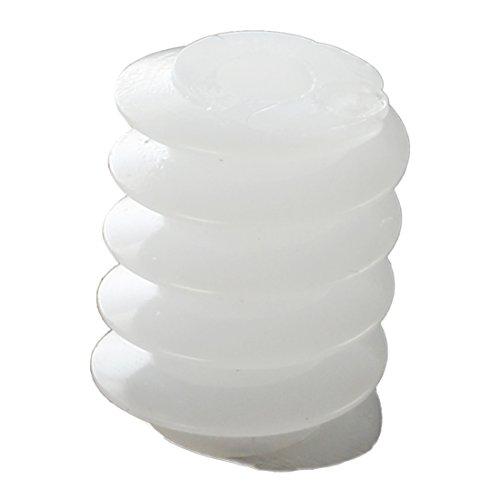 Tamkyo 20 Pcs Blanc Plastique Engrenages a vis sans Fin 6mmx8mm pour RC DIY Modele de Jouets