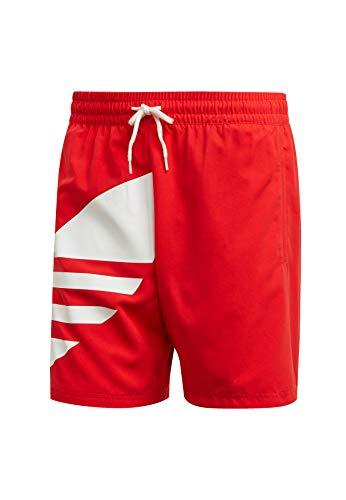 adidas Herren Big Trefoil SWM Swimsuit, Lush red, M