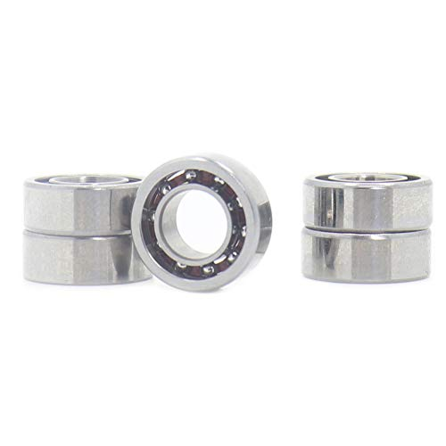 R188 Open Deep Groove Ball Bearing, 1/4'mmx1/2'mmx3/16'mm Fidget Spinner Bearing with Nylon Caged (5 PCS)