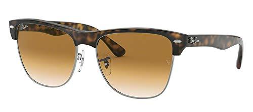 Ray-Ban RB4175 CLUBMASTER OVERSIZED 878/51 57M Demishiny Havana/Gunmetal/Crystal Brown Gradient Sunglasses For Men For Women Crystal Brown Gradient Sunglasses